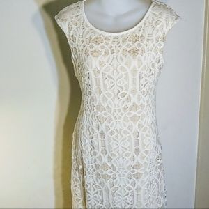 connected apparel White Lace Dress